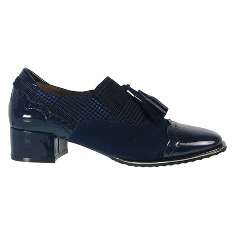 Rondy Dress Shoes in Navy Mix from Bresley