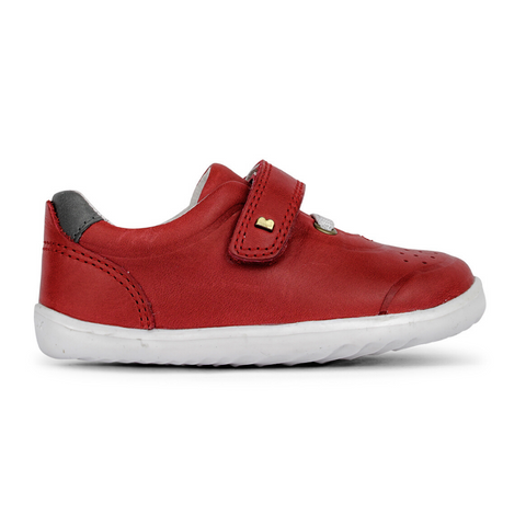 Ryder Trainers in Red and Charcoal from Bobux Step Up Collection