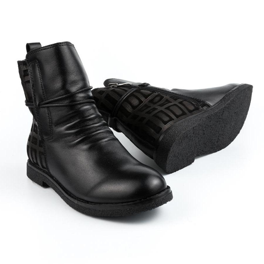 RED BOOTIE. LILIBETH - BLACK KIDS SHOES