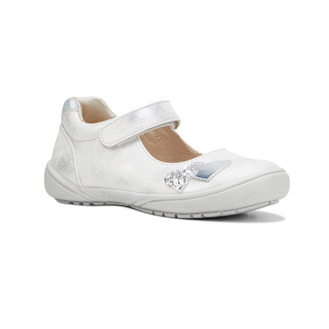 Xena silver distress childrens shoe from Clarks.