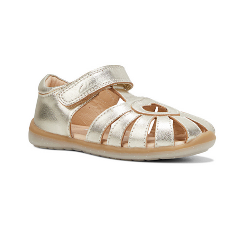 Maya rose gold girls sandal from Clarks.