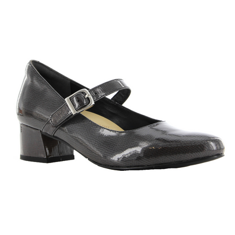 ZIERA. VEDA - GREY CH PATENT WOMENS SHOES