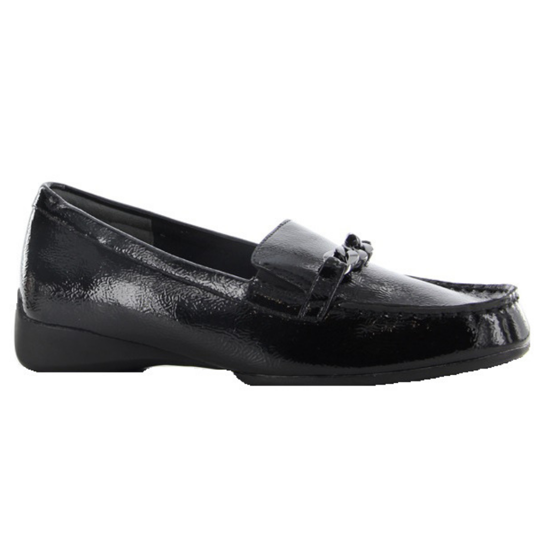ZIERA. FERN ZIERA - BLACK CRINKLE PATENT WOMENS SHOES
