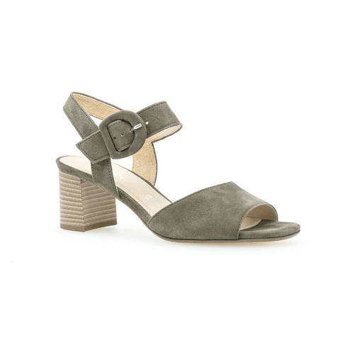 21752 Shoes in Olive by Gabor