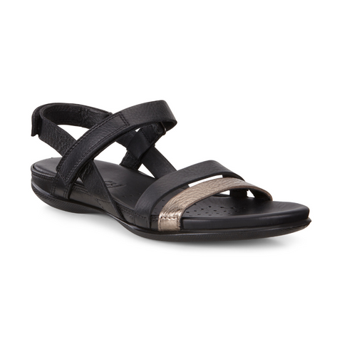 Flash Sandal in Metallic Black by Ecco