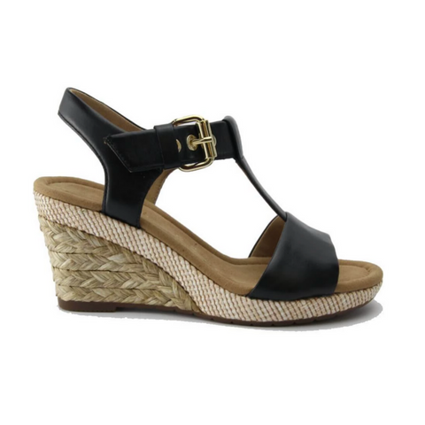 82824 Wedge Sandal in Schwarz by Gabor
