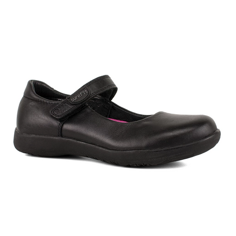 Brittney Black Surefit School Shoes