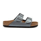 Arizona Metallic Anthracite Birkenstocks.