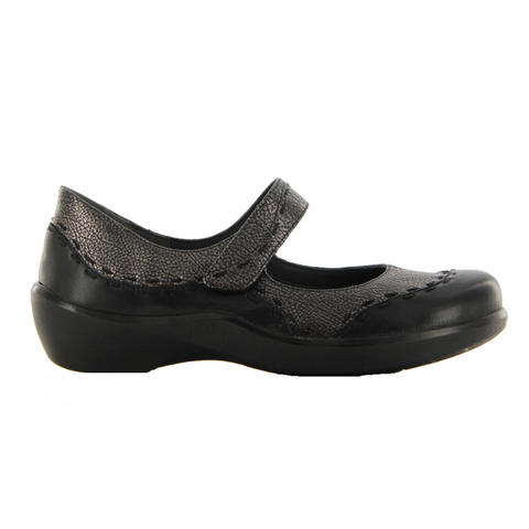ZIERA. GUMMIBEAR  - BLACK ANTIQUE PEWTER WOMENS SHOES