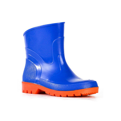 Bubblegummer Low Cut Gumboot in Cobalt Orange by Bata