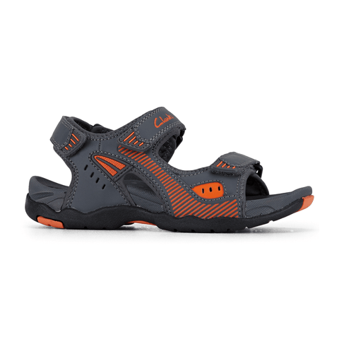 Trick Sandals in Charcoal Orange from Clarks