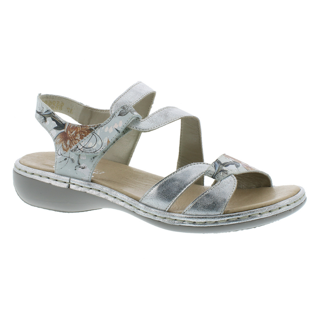 65969 Sandals in Weiss by Rieker