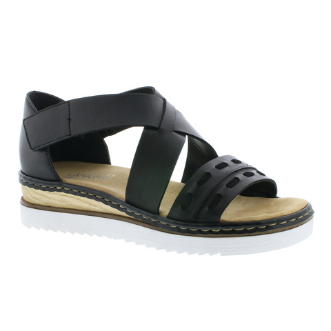 67968 Sandals in Black by Rieker