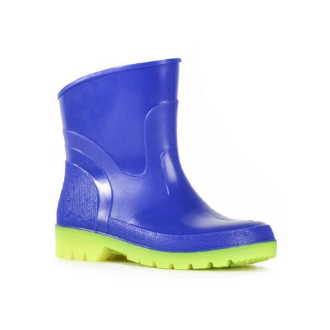 Bubblegummer Low Cut Gumboot in Blue Yellow Combo by Bata