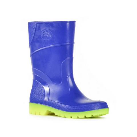 Bubblegummer High Cut Gumboot in Blue Yellow Combo by Bata