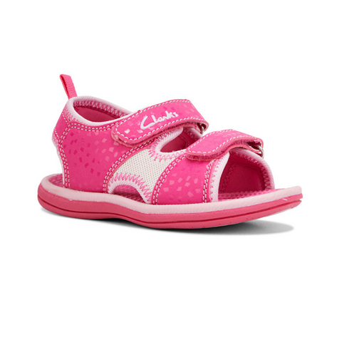 Frida Kids Sandals in Fuchsia Pink by Clarks