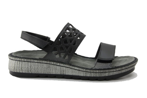 Acacia Sandal in Black Combo from Naot