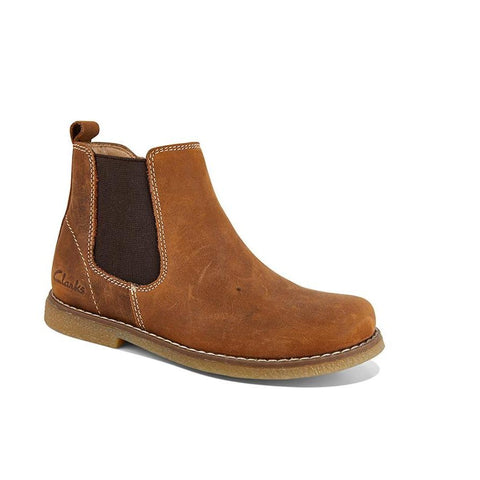 Chelsea Tan Crazy Horse Boots by Clarks