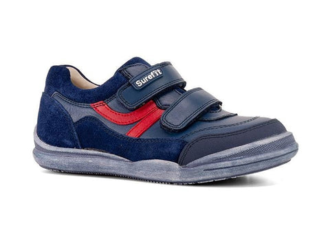 Danny Navy Kids Shoes by Surefit
