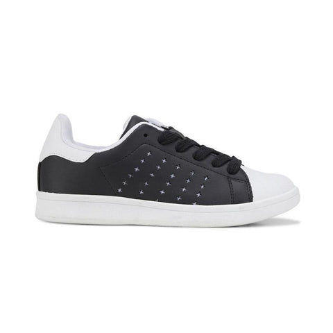 Clarks Decker Sneaker Senior in Black and White