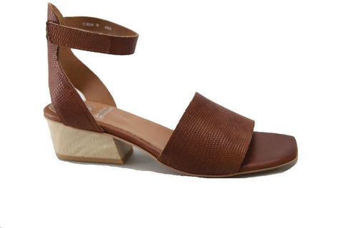 Joni Sandals in Brandy Embossed by Eos
