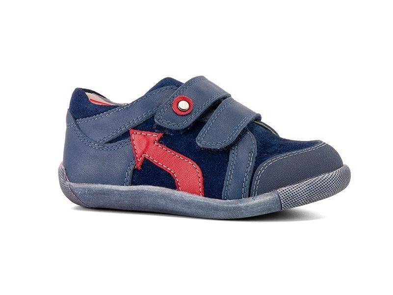 Joey Navy Kids Sneakers by Surefit