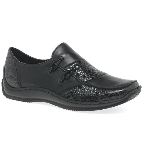 RIEKER. L1762 - BLACK COMBO WOMENS SHOES