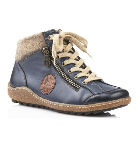 R4775 Boots in Blue Combo by Rieker