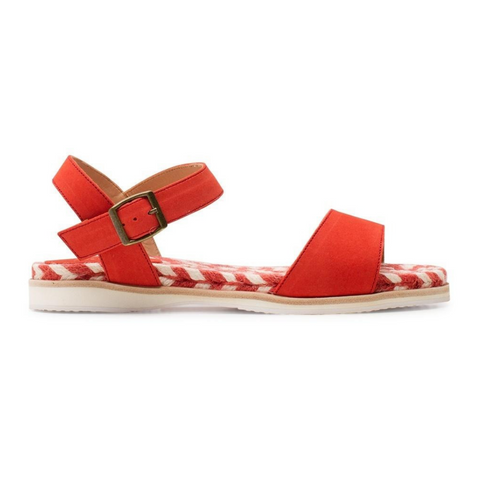 Jute Sandal Vermillion by Rollie Nation