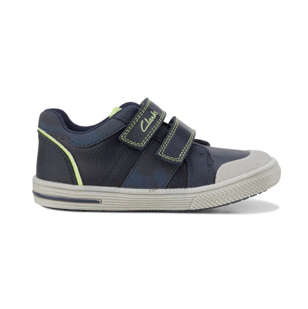 Clarks Jett Kids Sneakers in Navy