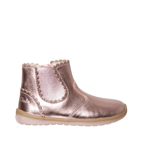 CLARKS. MAGGIE CLARKS - PINK KIDS SHOES