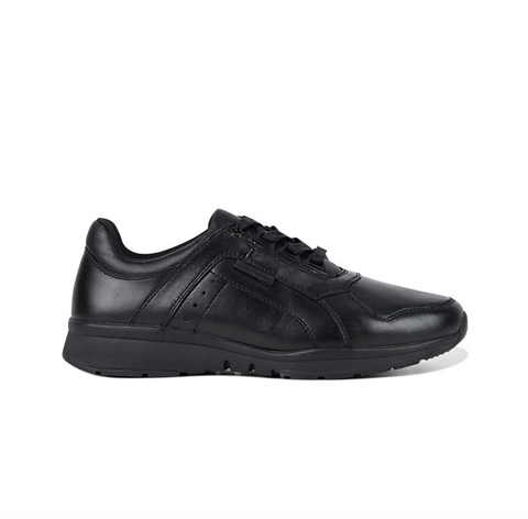 HUSH PUPPIES. EVERYDAY WALKER - BLACK WOMENS SHOES