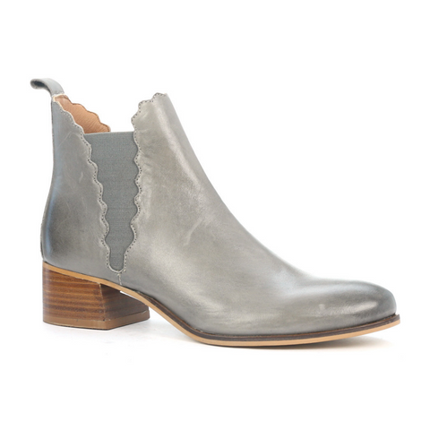 VALERIA GROSSI. CREASE - GREY WOMENS SHOES