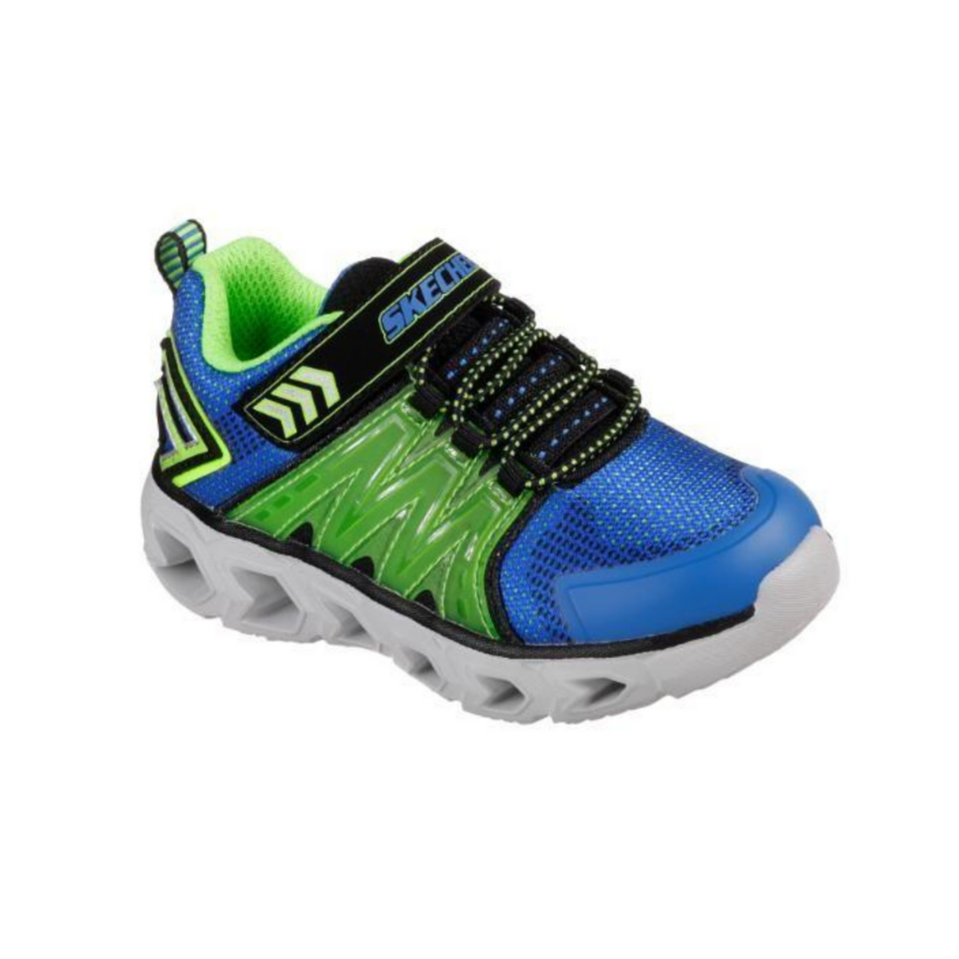 SKECHERS. 90585N - BLUE/LIME KIDS SHOES