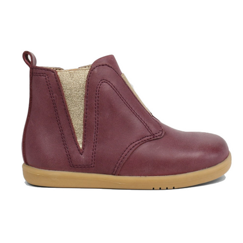 Signet Plum Boots from Bobux iWalk Collection