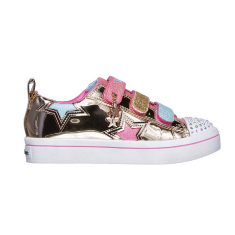 SKECHERS. 10981L - ROSE GOLD KIDS SHOES