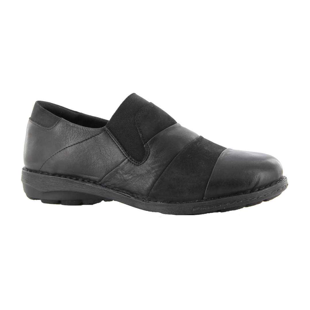 Ziera. Sienna Womens Shoes in Black Nubuck
