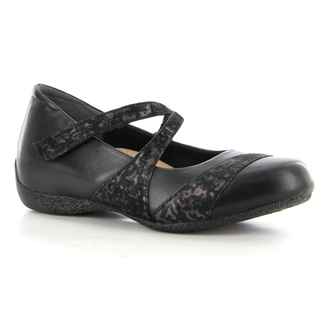 Xray Shoes in Black Metallic Leopard from Ziera