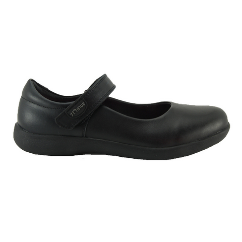 Brittney Black School Shoes by Surefit