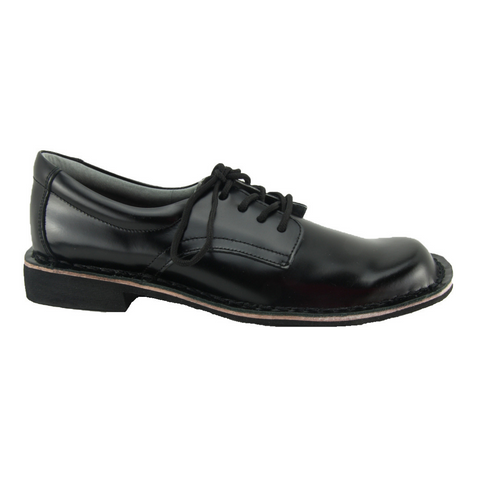 Harrisons Indy Youth - Black Hi Shine School Shoes