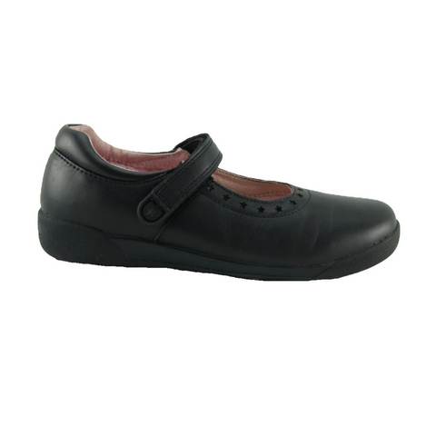 Bloom Black E Clarks School Shoes
