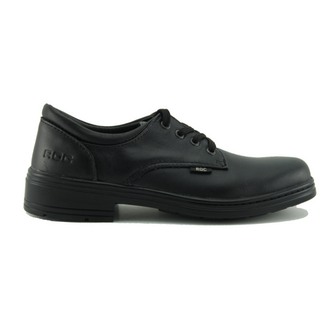 Larrikin Junior School Shoes in Black by Roc