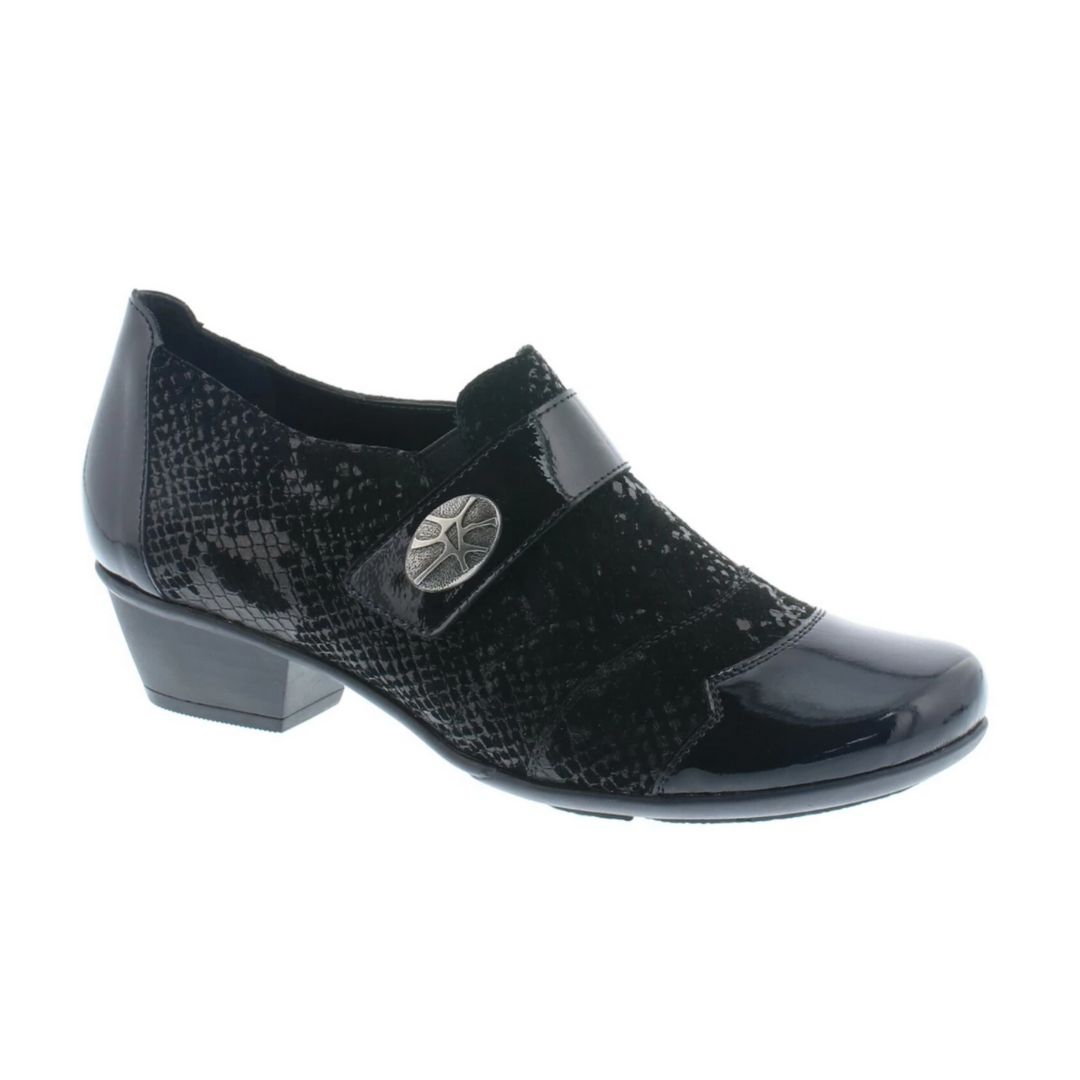 Rieker. D7333 Womens Shoes in Black