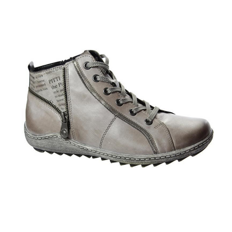 R1472 Boots in Grey Combo by Rieker