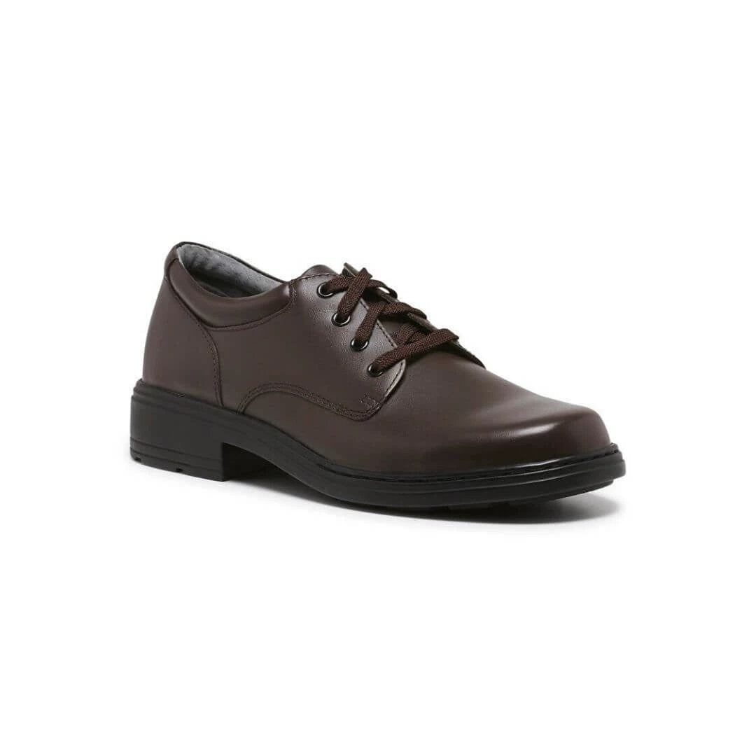 Infinity D School Shoes in Brown from Clarks.