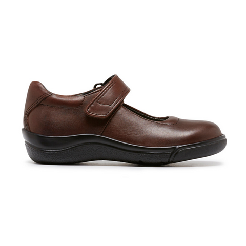 Petite E School Shoes in Brown from Clarks.