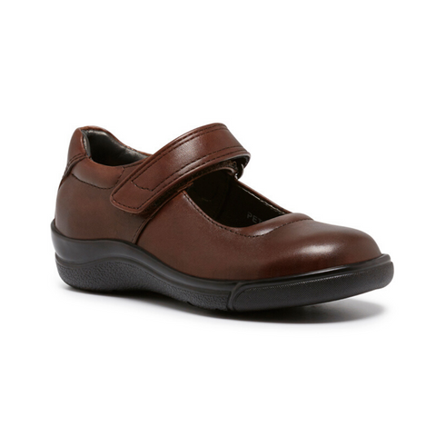 Petite School Shoes in E Brown from Clarks.