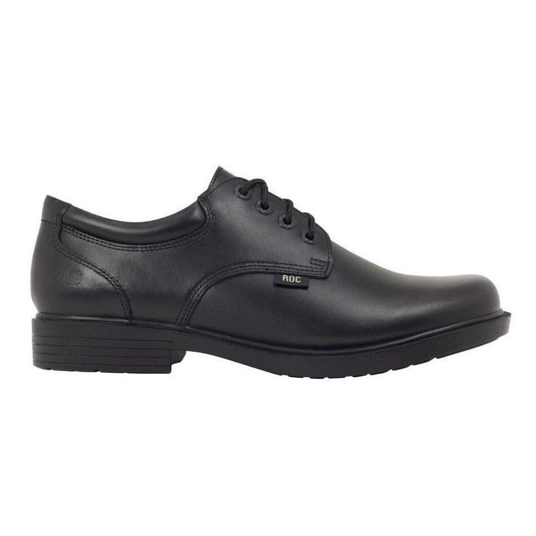 Report Senior Boys School Shoes in Black by Roc