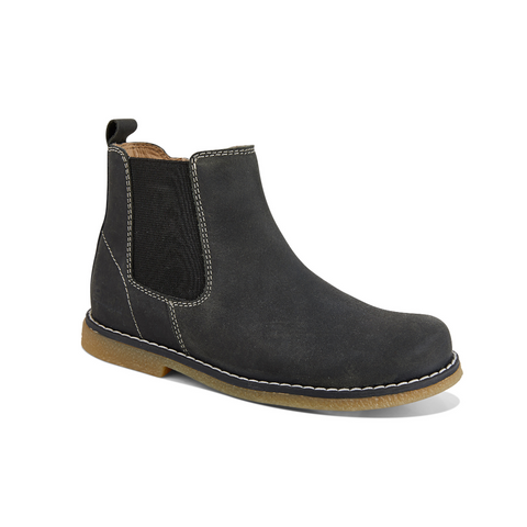 Chelsea Black Crazy Horse Boots by Clarks