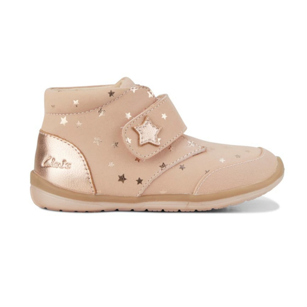 Clarks Misty Girls Boots in Rose Gold